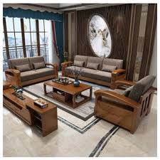 wooden living room furniture sofas