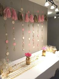 baby shower wall decorations ideas pink gold party ideas about pink gold party on from baby