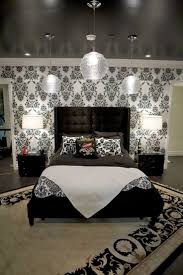 Modern Bedroom Black And White 17 Best Ideas About Black And Silver Wallpaper On Pinterest
