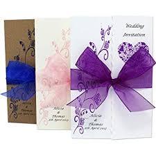 Handmade Personalised Gatefold Wedding Invitations With Ribbon And Envelopes Free P P 1