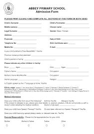 doc school admission form sample school admission form school application form example patriotism in america essay school admission form sample