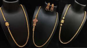 Latest Gold Thali Chain With Cz And Diamond Mopu Or Mugappu