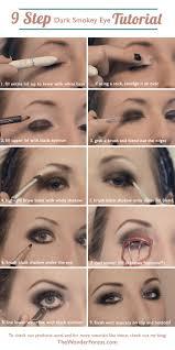 9 step dark smokey eye tutorial