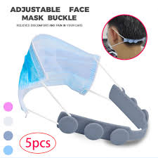 5PCS Third Gear <b>Adjustable Anti Slip Mask Ear</b> Grips Extension ...