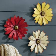 outdoor metal wall flowers