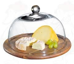 cheesefondue co uk cheese dome acacia wood with glass cover Ø 30 cm