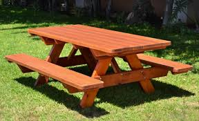 wood picnic table als in the hudson valley