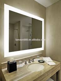 Hotel Bathroom Lighted Mirror Hotel Bathroom Mirror With Led Lighted And Touch Sensor Ip44 Shower Mirror For Makeup Buy Led Lighted Mirror Makeup Led Mirror Bathroom Mirror With