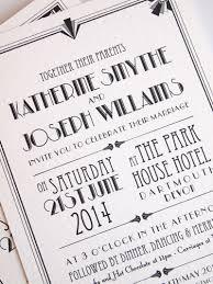 Art Deco Wedding Invitation Hollywood Design Paper Pleasures