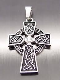 whole men women irish celtic knot cz cross pewter pendant with celtic cross necklace mens