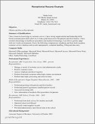 Sample Resume Of Receptionist In Hotel Best Of Resume Front Desk