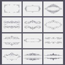 ornate frames vector art book border png and psd