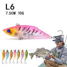 New Bait Boat Lures Set 7.5cm 10g Transparent VIB Road ... - Vova