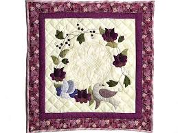 Vines and Roses Quilt -- splendid cleverly made Amish Quilts from ... & Plum Vines and Roses Applique Wall Hanging Photo 1 ... Adamdwight.com