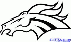 Denver Broncos Logo Coloring Sheet Google Twit For The Most Amazing
