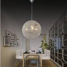 modern k9 crystal ball pendant lamp contracted creative round crystal chandelier sitting room bedroom lighting beaded chandelier wagon wheel chandelier from