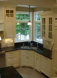 kitchen corner sink with nice big windows!