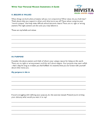 Personal Mission Statement Worksheet Free Worksheets Library ...