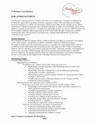 Volunteer Resume Samples Best Of Volunteer Coordinator Resume Sample