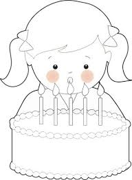 Small Picture Free Birthday Girl Coloring Page