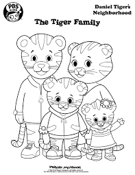 Small Picture Coloring Daniel Tigers Neighborhood PBS KIDS Pinteres