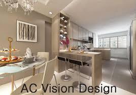 Hdb Bto 4 Room Open Kitchen Concept Yishun