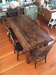 antique redwood door made into dining table for 8 old growth redwood legs 31 w x 76 long 31 tall