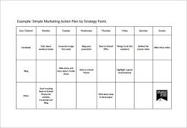 Simple Action Plan Template - 16+ Free Sample, Example, Format ...