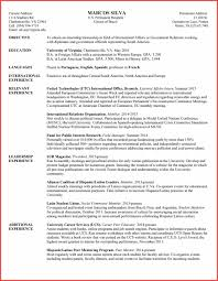 Tandard Resume Format Example Template International For Freshers