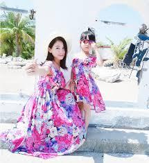 Irregular Mother Daughter <b>Dresses</b> Matching <b>Summer Clothes 2019</b> ...