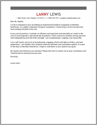 Sample Cover Letter For Caregiver No Experience Cover Letter