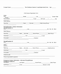 Registration Form Templates For Word Youth Football Registration Form Template Best Of Sports