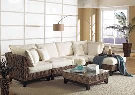 Sanibel Bedroom Furniture Panama Jack Sanibel 6 Piece Sectional Wicker Living Room Set From