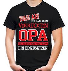 Verrückter Opa T Shirt Superheld Männer Herrentag Familie Sprüche