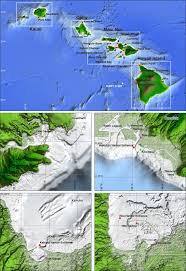 Location And Relief Maps For Hawaii And The Four Major