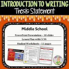 Writing A Thesis Statement Thesis Statement Introduction To Writing Middle School Tpt