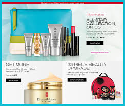 receive a free 7 pc gift with 40 elizabeth arden purchase