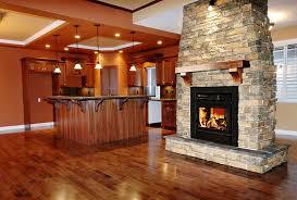 see thru wood burning fireplace