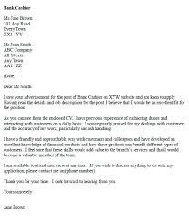 covering letter for bank cover letters for bank tellers bank cashier cover letter example