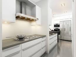 Apartment Galley Kitchen Kitchen Cabinets White Kitchen Cabinets Concrete Countertops