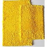element yellow bath rugs  piece chenille bath rug large bath mat quotxquot small mat quotxquot