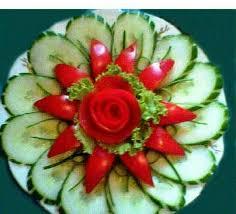 How To Decorate Salad Tray Květ z okurky a papriky SAŁATKI SURÓWKI PRZYSTAWKI Pinterest 89