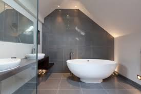 recessed floor lighting. Recessed Floor Lighting Bathroom Contemporary With Grey Tile Mounted Tub Filler -