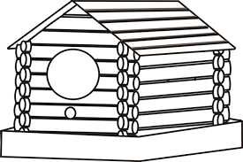 Small Picture Log Cabin Coloring Page Clipart Panda Free Clipart Images