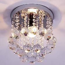 s brief style modern lamp small crystal chandelier hallway