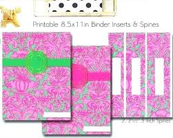 Printable Binder Inserts Spine Insert Template