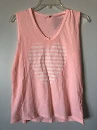 Details About New Sundry Clothing Stripe Heart Tank Top Coral Peach Orange White 0 Xs Xsmall