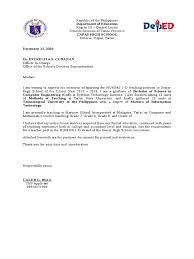Intent Letter Sample For School Teacher Letter Of Intent