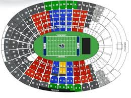 Rams Seat Map La Rams Seat Map California Usa