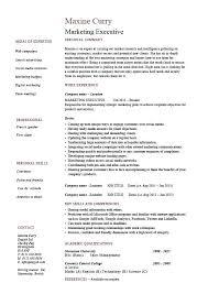 Resume Format Marketing Marketing Executive Resume Resume Format For